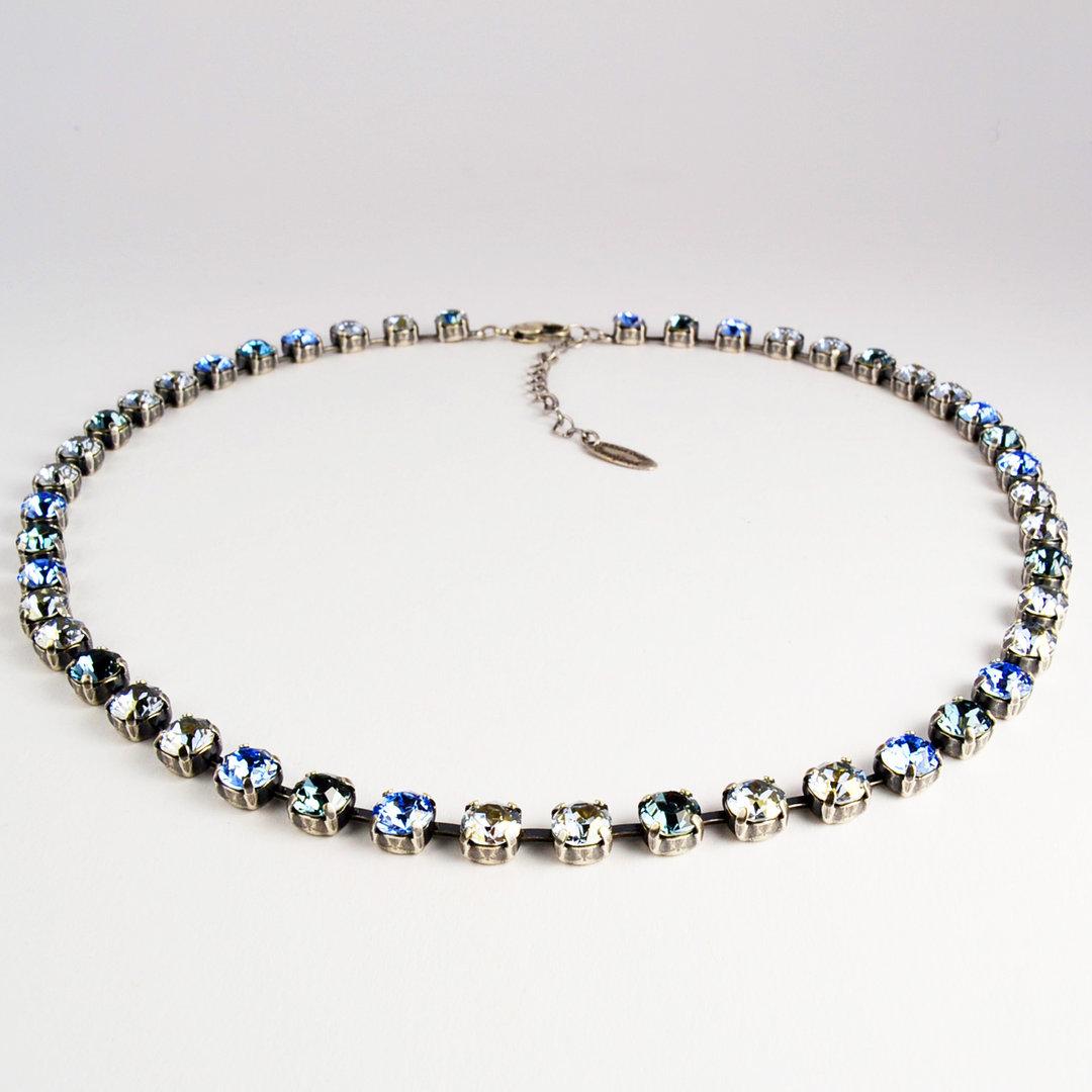 Grevenkämper Collier Swarovski Crystal blue L  Sapphire